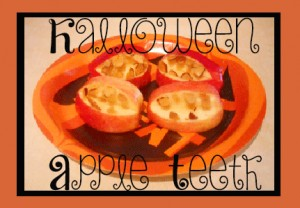Goulish #Halloween Apple Teeth #recipe