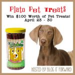 $100 Worth of Plato Pet Treats #BlogitForward