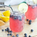 Sparkling Blueberry Lemonade