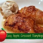 Easy Caramel Apple Crescent Dumplings