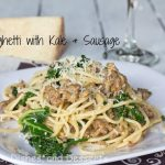 Spaghetti with Kale & Sausage