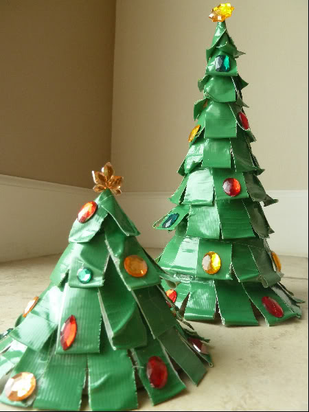 how to make a duct tape christmas tree ornament video