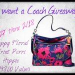 I Want A Coach #Giveaway