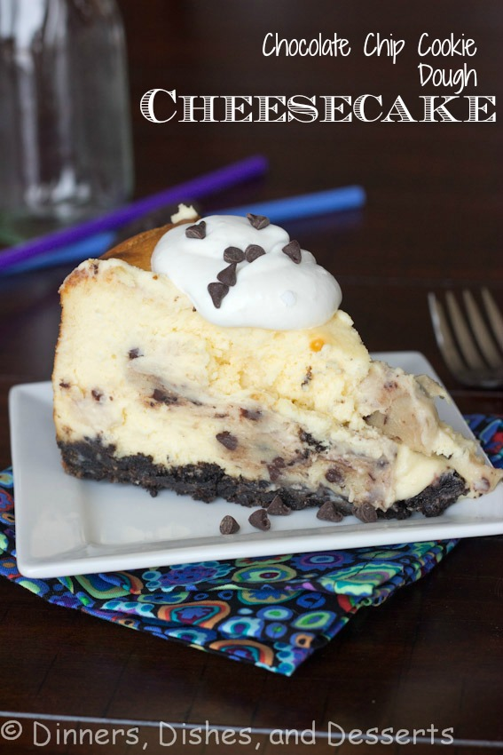 Chocolate Chip Cookie Dough Cheesecake -