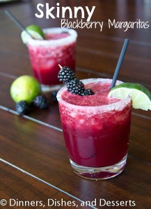 Skinny Blackberry Margaritas Recipe