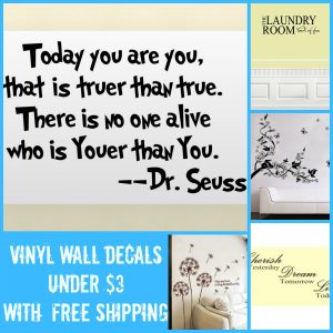 10 Wall Decals Under $4 on Amazon with free shipping!