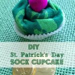 DIY St. Patrick's Day Sock Cupcake