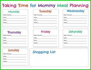 7 Tips for Weekly Meal Planning with Meal Planning Printable