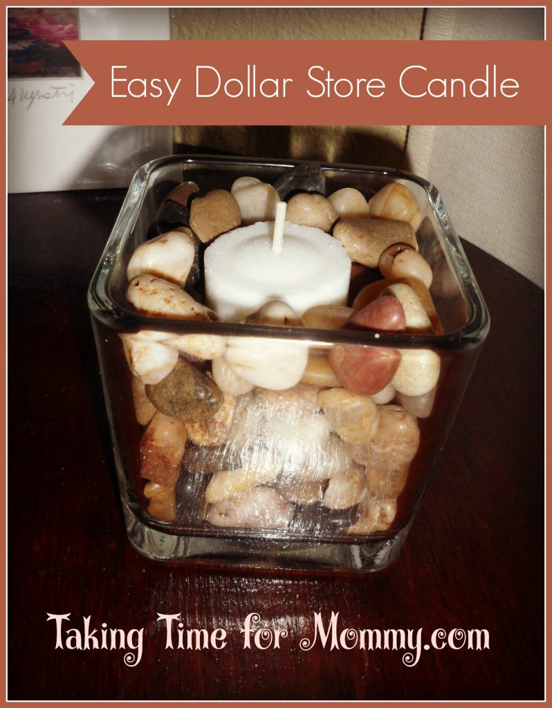 Easy Dollar Store Candle