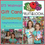 Fruit Of The Loom $75 Walmart Gift Card For #BackToSchool #Giveaway #TGIBTS