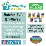 Savory Savings Golden Birthday Giveaway Extravaganza!  Prize Pack #2: Yummy Fun