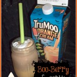 Orange Scream TruMoo Boo-Berry Smoothie Recipe #TrooMooTreats