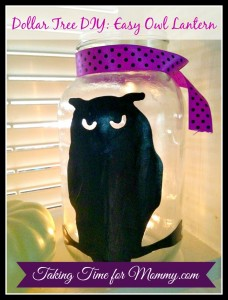 Dollar Store DIY CRAFT: Owl Lantern
