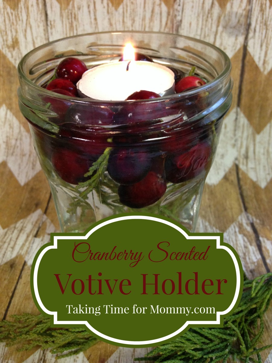 Cranberry Scented Votive Holder