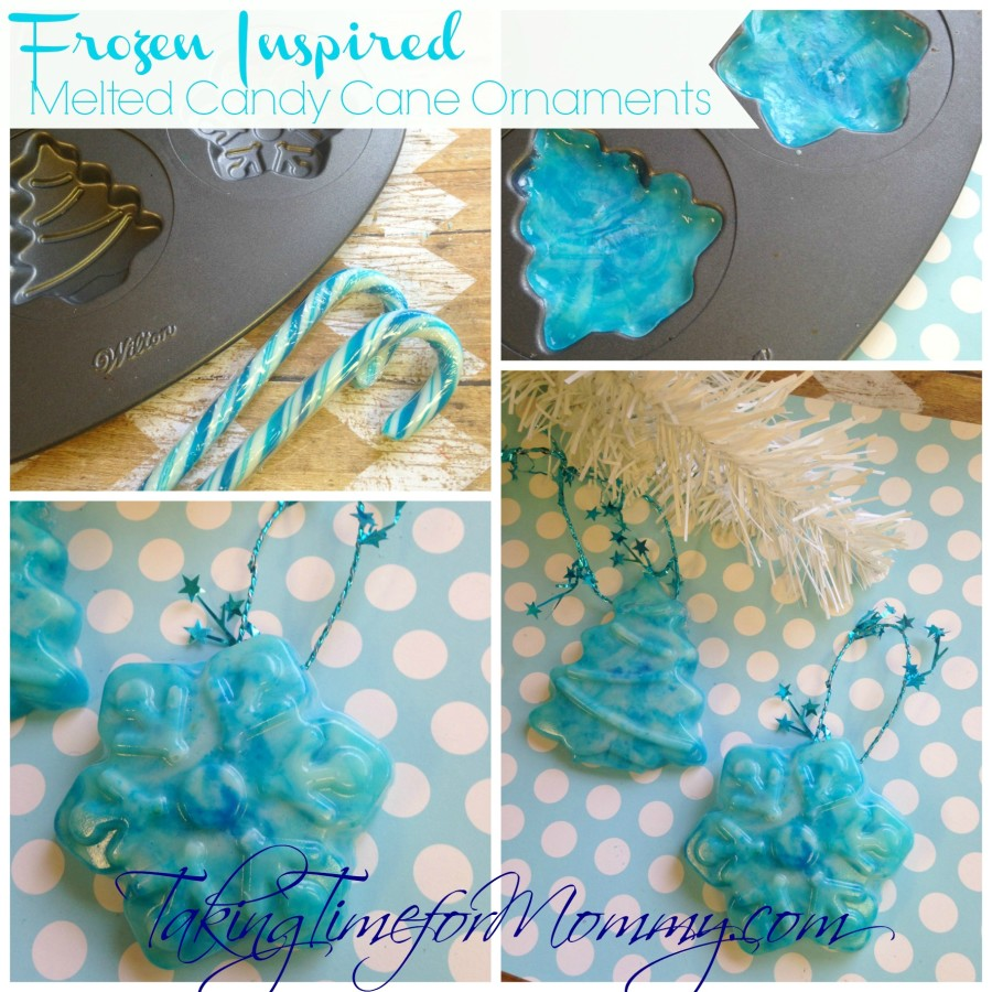 Frozen Inspired Melted Candy Cane Ornament