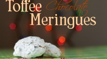 Toffee Chocolate Meringues