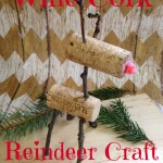 Wine Cork Reindeer Craft