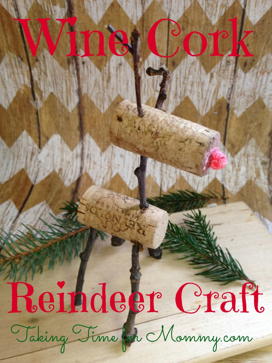 Wine Cork Reindeer Craft