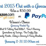 Win a $50 Amazon GC or PayPal