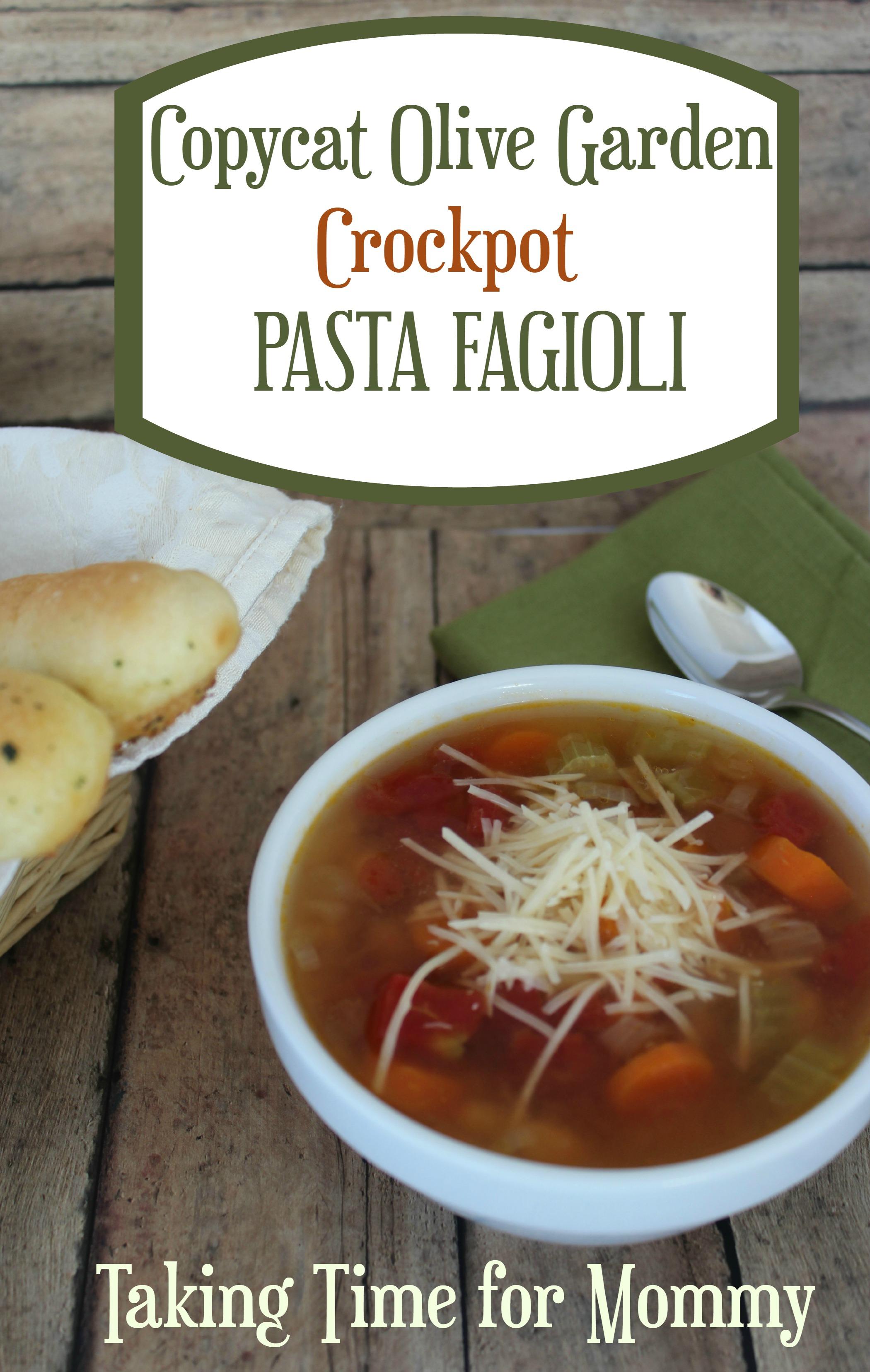 Copycat Olive Garden Crockpot Pasta Fagioli