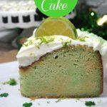 Leprechaun Day Lime Poke Cake