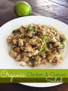 Organic Chicken & Quinoa Salad with Mushrooms & Broccoli
