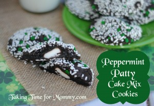Peppermint Patty Cake Mix Cookies
