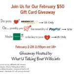 February $50 Gift Card #Giveaway