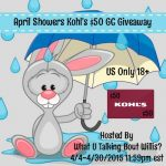 April's $50 Kohl's Gift Card Giveaway