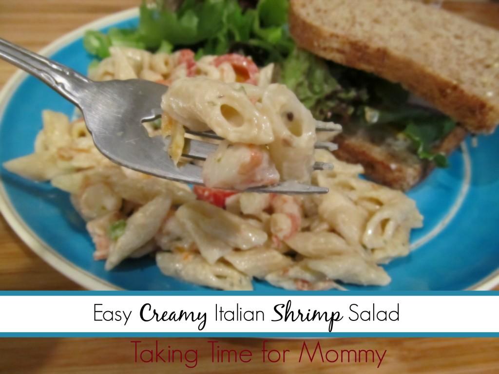 EasyCreamyItalianShrimp Salad