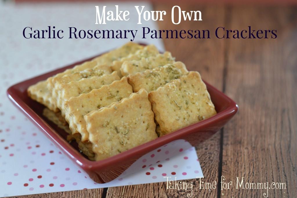 Garlic Rosemary Parmesan Crackers