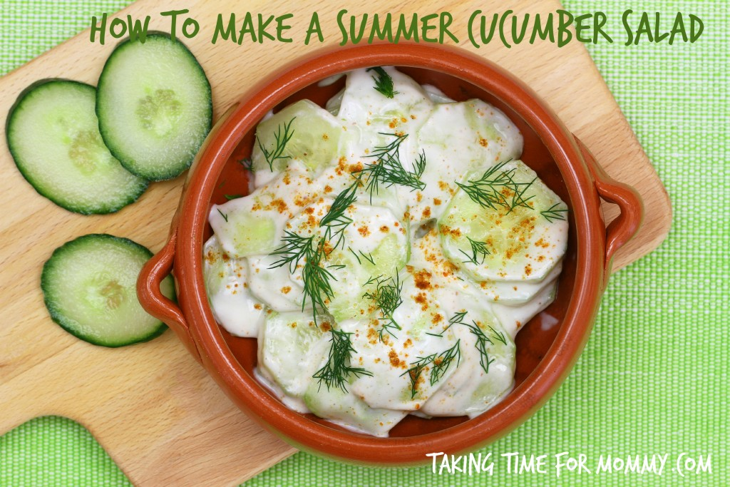 How To Make A Summer Cucumber Salad