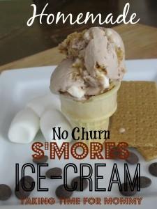 Homemade S'Mores No Churn Ice Cream