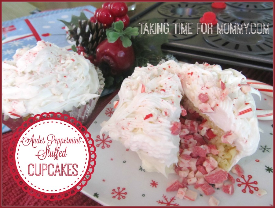 Andes Peppermint Stuffed Cupcakes