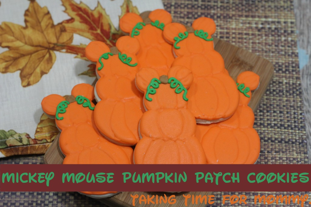 Mickey Mouse Pumpkin Patch Cookie