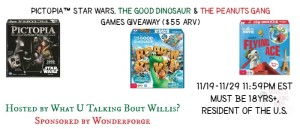 Enter to Win 3 Games from Wonderforge: Star Wars,Good Dino and The Peanuts Gang #Giveaway