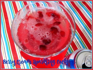 Berry Cream Sparkling Cocktail #SparklingHolidays @dasaniwater