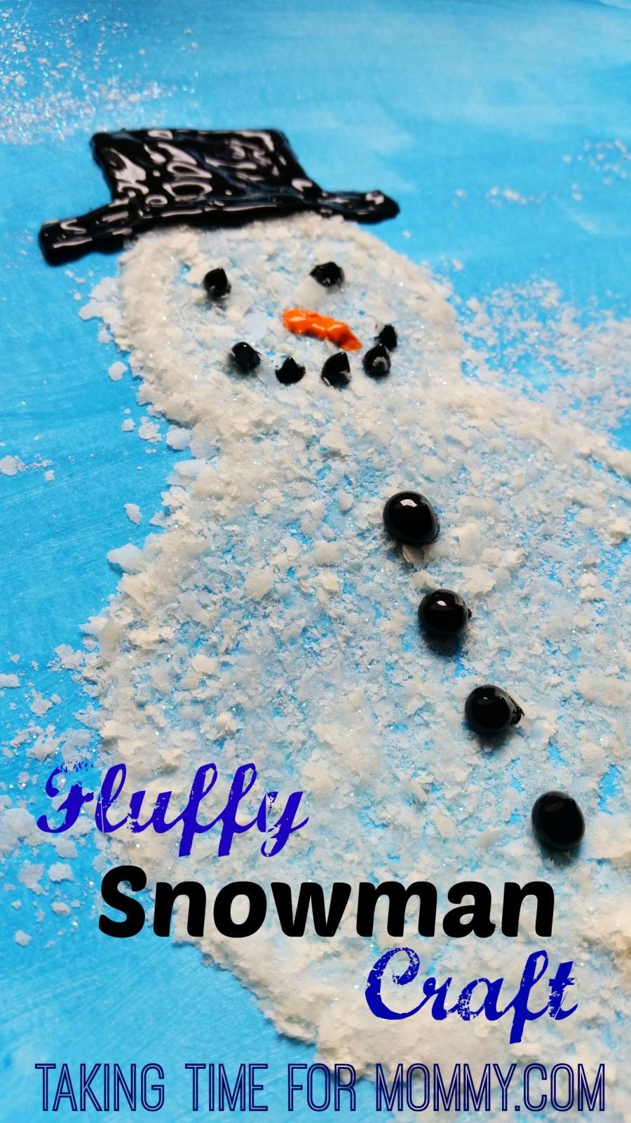 Fluffy Snowman Craft