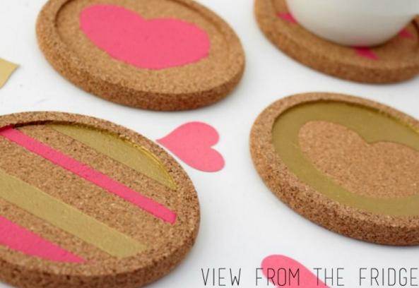 Easy DIY Valentines Coasters