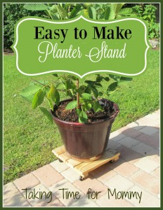 Easy to Make Planter Stand