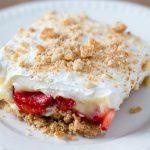 Strawberry-Banana Cream Pie Bars #Recipe