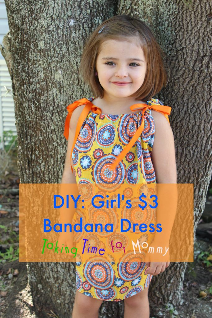 DIY Girl's $3 Bandana Dress