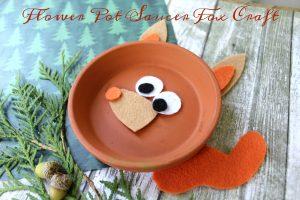 Flower Pot Saucer Fox Craft