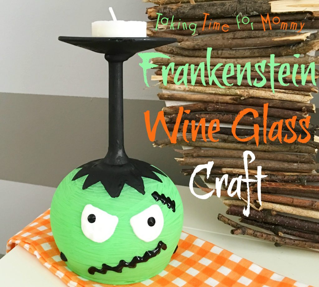 Frankenstein Wine Glass Craft