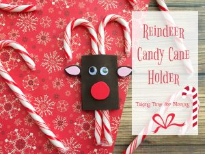 Easy to Make Reindeer Candy Cane Holder Craft