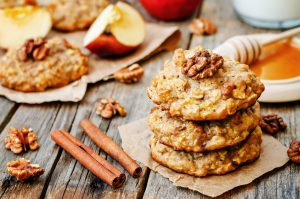 Apple-Oatmeal Cinnamon Breakfast Cookies