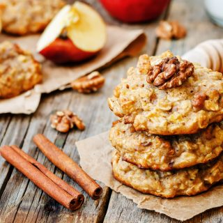 Apple-Oatmeal Cinnamon Breakfast Cookies