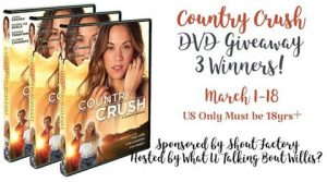 3 Winners each 1 copy of Country Crush DVD