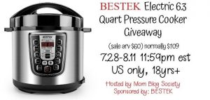 BESTEK 6.3 Quart Electric Pressure Cooker (Arv 109 currently on sale for $59.99)