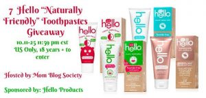 Hello Products Toothpaste Giveaway